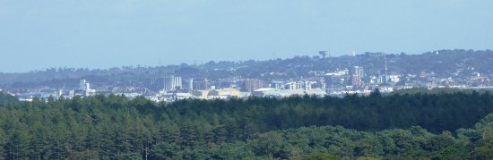 Poole as seen from Corfe Castle.