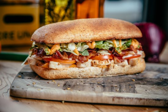 Tsawwassen, Canada: baked sandwich