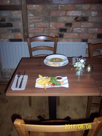 Little Hallingbury, UK: Dinner for two which was delicious - Our starters