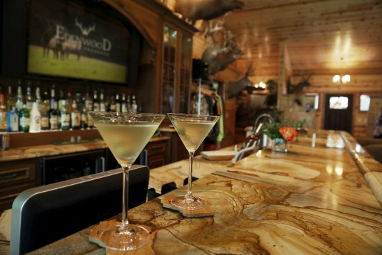 Wautoma, WI: The Main Lodge has an elegant bar for your group or family.