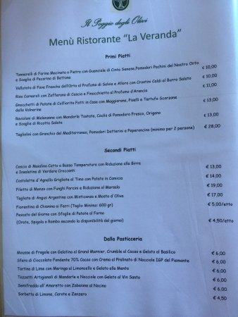 Bettona, Ιταλία: Menù