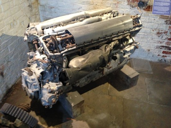 Rolls Royce Merlin engine from a crashed Spitfire - Picture