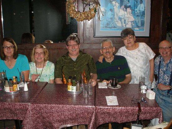 Ferndale, MI: The bunch of us enjoying the food