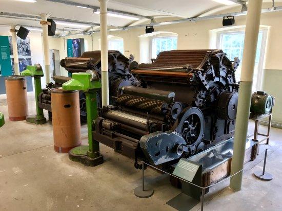Perth, UK: Carding machines at Stanley Mills