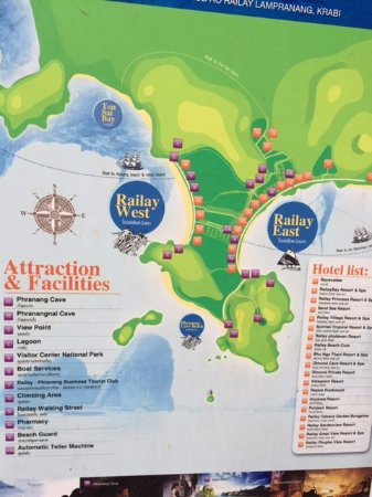 Property Map Picture of Rayavadee Resort Railay Beach TripAdvisor