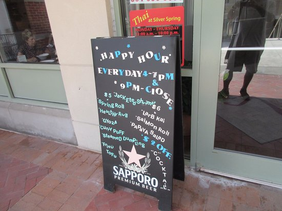 Silver Spring, MD: Happy Hour menu looks good too