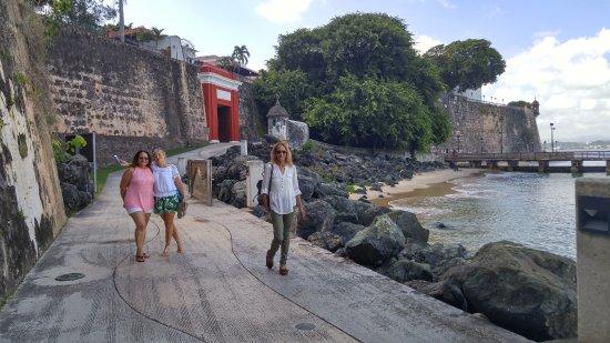 Puerta de San Juan: Us walking past the gate.