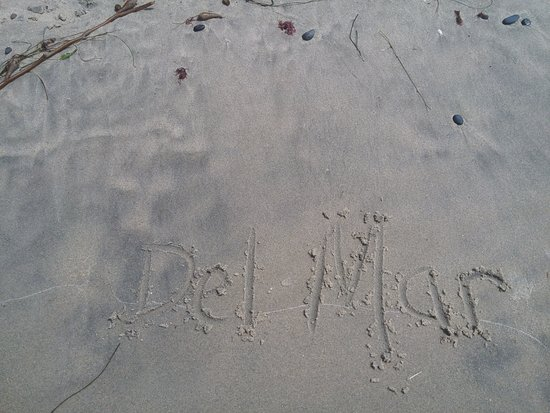 Del Mar, Kalifornia: Left our mark in the sand....