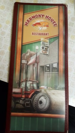 Harmony, MN: menu cover