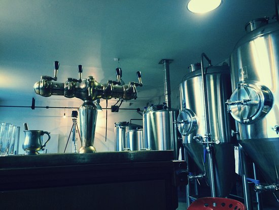 Puivert, France: BDQ Bar - and fermentation vessels in all their glory...