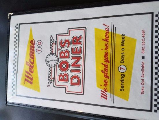 Bob's Diner: menu