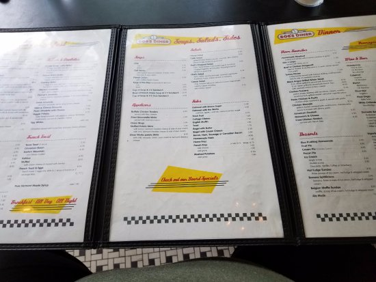 Bob's Diner: decisions, decisions, decisions......so much to pick from