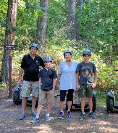 Scotch Creek, Canada: Grandpa, Grandma, a Tween & a Teen on a Segway Adventure.