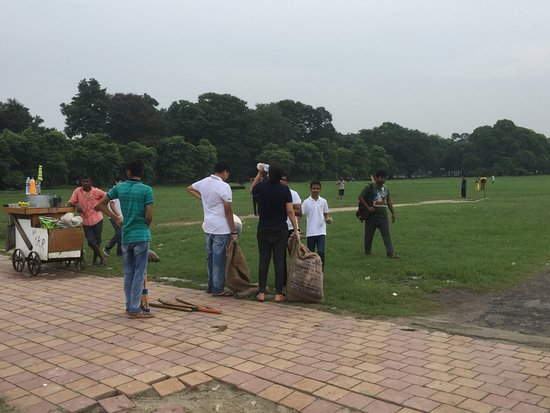 Maidan: Heartening to see youngsters clearing the garbage.