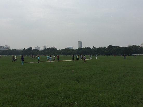 Maidan: cricket match going on.