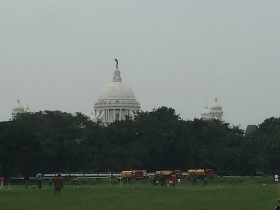 Maidan: Victoria Memorial in its glory early in the morning.