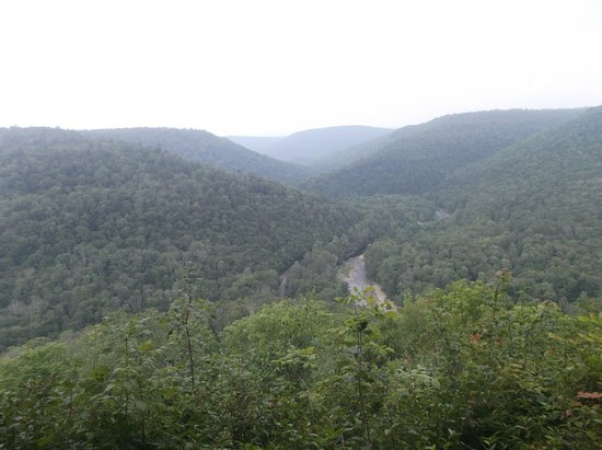 Forksville, Pensylwania: view from overlook