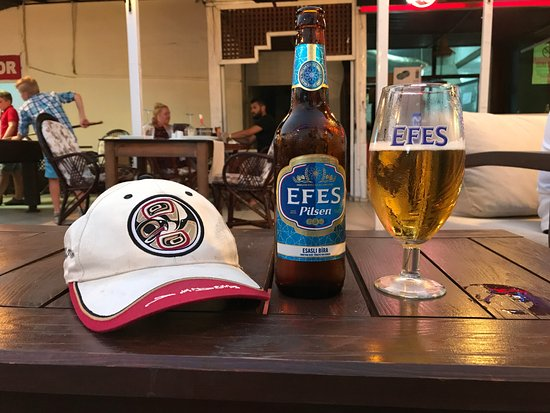 Orka Sunlife Hotel: The local beer is very nice indeed. The hat, made it home safe :)