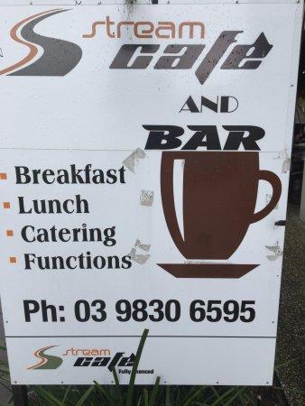 Burwood, Australia: Outside signboard