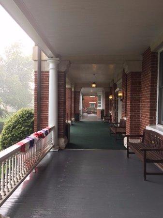 The view along the veranda.