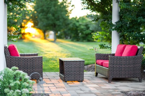 Livingston, NJ: Pergola Seating Area In Diffused Sun