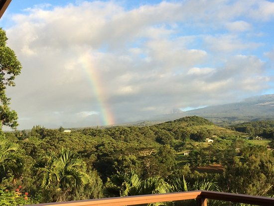 Maui Tradewinds: View facing Haleakala from deck