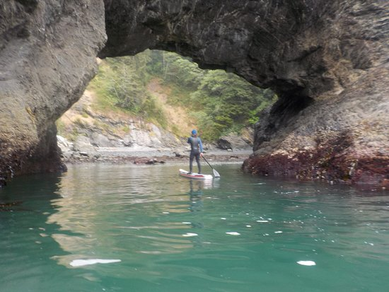 Gold Beach, OR: one of the stunning arches on the SUP tour