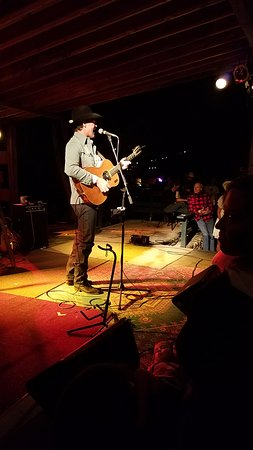 Livingston, Монтана: Corb Lund on the outside stage!