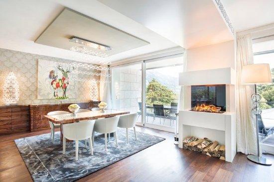 Бад-Рагац, Швейцария: Presidential Suite Dining Area