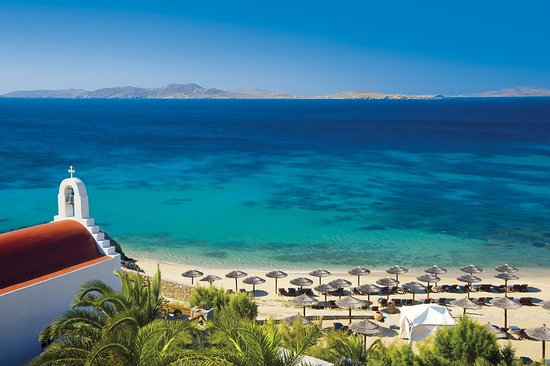 Mykonos Grand Hotel & Resort : Hotel Beach