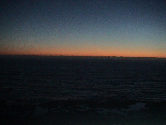 Depoe Bay, OR: Sunset from the balcony on our last night there