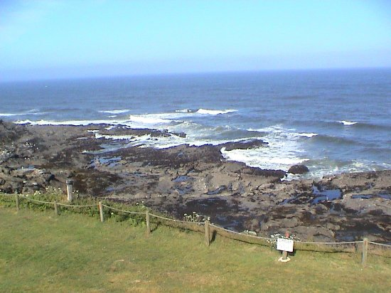 Depoe Bay, OR: Clear day, shot 3