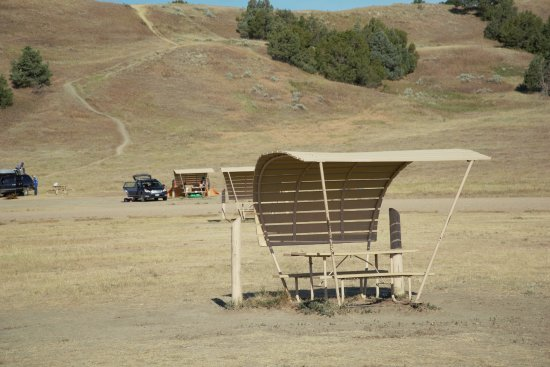 Sage Creek Campground: one of the covered areas at sage creek