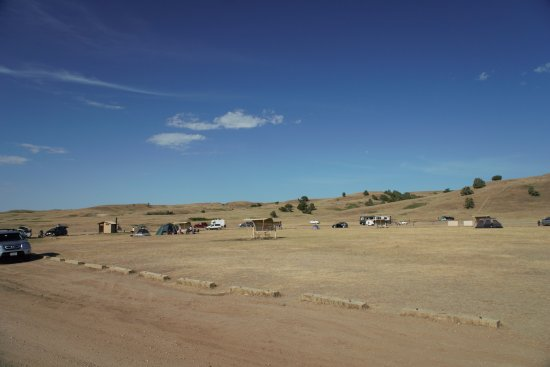 Sage Creek Campground: half of the campground at sage creek