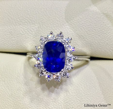 sapphire product loose gem cornflower blue cushion cut