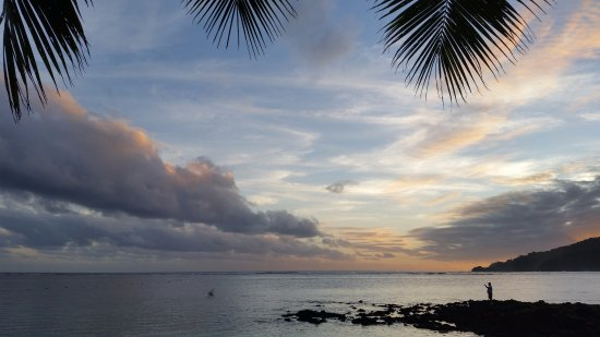 Upolu, Samoa: view from across the road