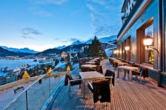 Carlton Hotel St. Moritz : Sun Terrace