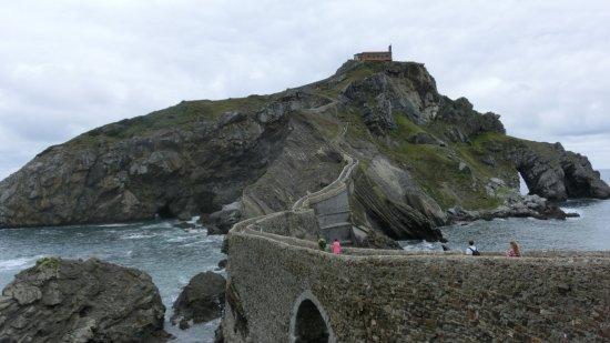 San Juan de Gaztelugatxe: この階段を登ります