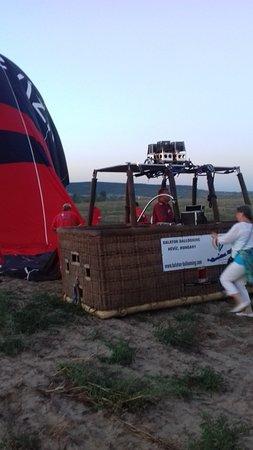 Balaton Ballooning: Kiszállás után a kosár