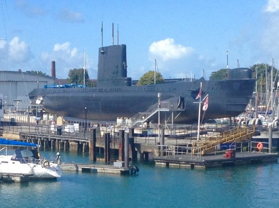 Gosport, UK: Not often you get to see a submarine above the water - dive, dive, dive!