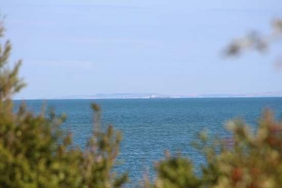 Lower Leas Coastal Park: France in the distance