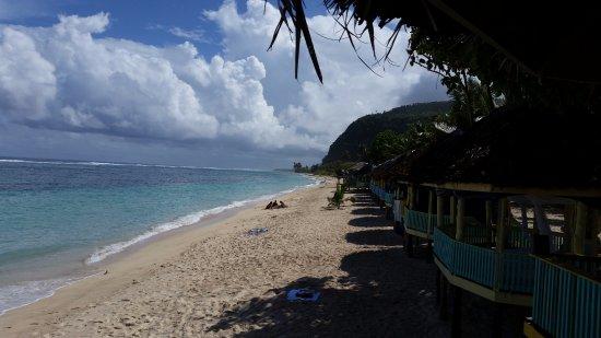 Taufua Beach Fales: open beach fales