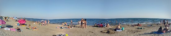 Carnon, France : visão geral da praia.
