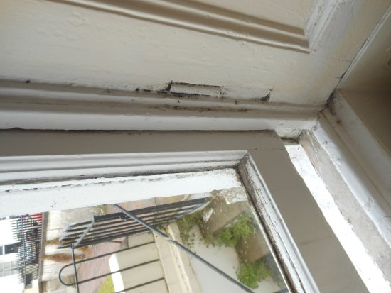 The Washington: general grime/dirt around window