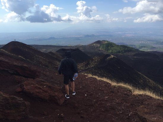 Nicolosi, Italy: A view from a crater at the base of Etna.