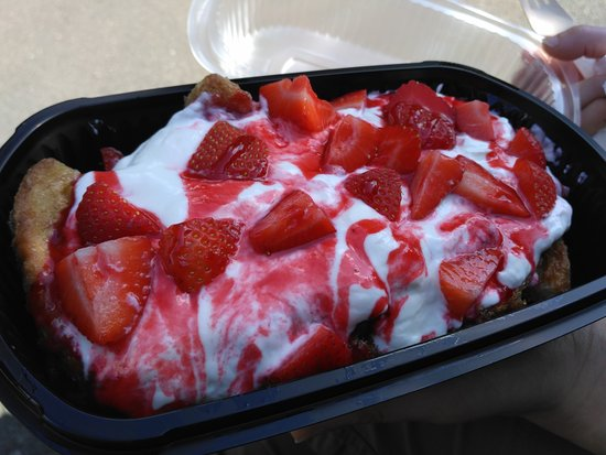 49 Cafe: french toast with fruit & yogurt topping