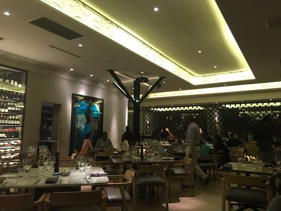 Interior view picture of marble restaurant johannesburg