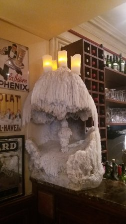 Boulevard Brasserie: the amazing candle grotto - always growing!!