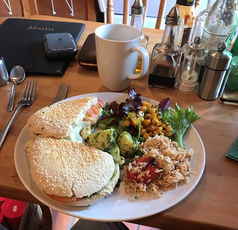 Riverside Cafe: My Pannini and coffee