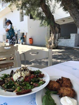 Piso Livadi, Greece: Piatti tipici squisiti